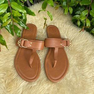Tory Burch🍂🍁Royal Tan thong sandals sz 8